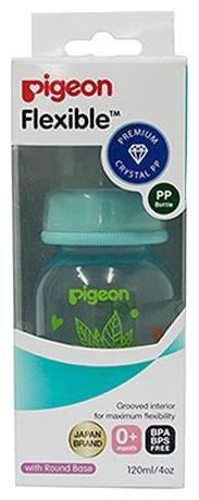 Pigeon Peristaltic Clear Nursing Floral Bottle Rpp - Blue 120 ml