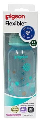 Pigeon Peristaltic Clear Nursing Bottle Rpp - Blue  Abstract 240 ml
