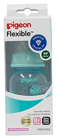Pigeon Peristaltic Clear Nursing Bottle Rpp - Blue  Abstract 120 ml
