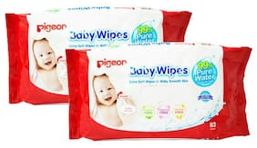 Pigeon Pigeon Baby Wipes Water Base 82 Sheets - Combo 750 gm