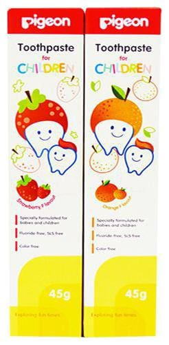 Pigeon Toothpaste Combo - Strawberry & Orange 45 gm (Pack of 2)