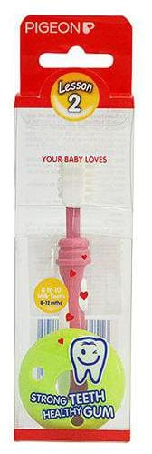 Pigeon Training Toothbrush Lesson-2, Pink 1 pc