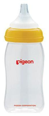 Pigeon WN Nursing Bottle With Plus Type Nipple - Yellow 240 ml