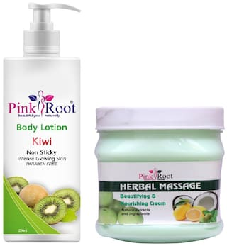 Pink Root Kiwi Body Lotion 200ml With Herbal Cream 500g