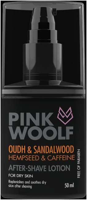 Pink Woolf After Shave Lotion;Dry to Normal Skin;Oudh & Sandalwood;50ml