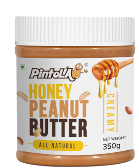 Pintola All Natural Honey Peanut Butter 350 gm (Creamy)