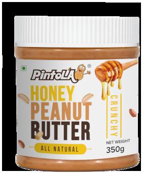 Pintola All Natural Honey Peanut Butter 350 gm (Crunchy)