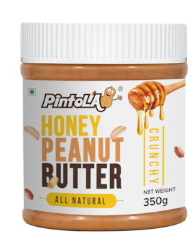 Pintola All Natural Honey Peanut Butter 350 gm (Crunchy)