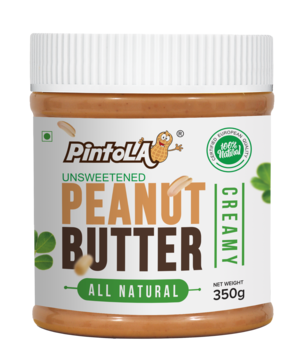 Pintola All Natural Peanut Butter 350 gm (Creamy)