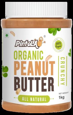 Pintola Organic Peanut Butter 1 kg (Crunchy)