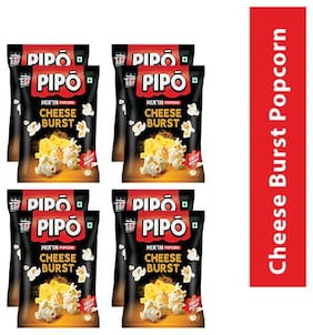 PIPO Mix'In Cheese Burst Popcorn-60g( Pack of 8)