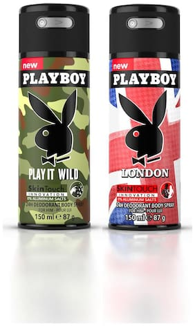 Playboy (Wild M + Landon) Men Deo Combo Set - Pack of 2