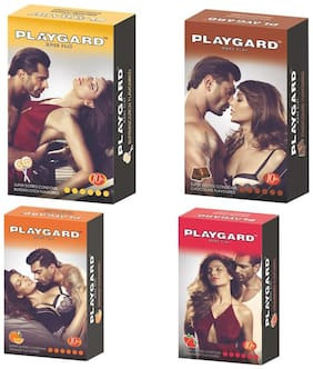 Playgard combo butterscotch,choclate,strawberry & orange  - Pack Of 8