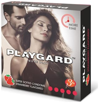 Playgard More Time Superdotted Strawberry  - Pack Of 8