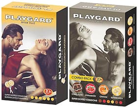 Playgard More Play Superdotted BUTTERSCOTCH & COMBO PACK Flavoured Pack of 2(10 pcs Condoms each)