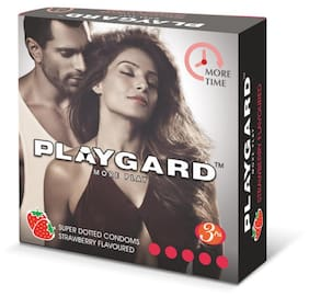 Playgard More Time Superdotted Strawberry (3S X 8 Pack 24 Condoms)