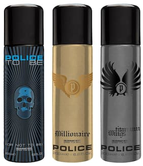 Police To Be Man & Millionaire & Wings Titanium Deo Combo Set(Pack of 3)