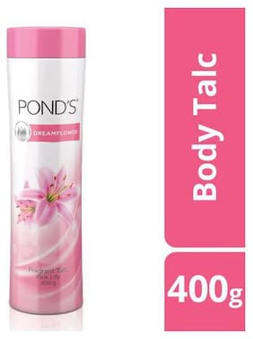 Pond's Dreamflower Fragrant Talc Pink Lily 400 gm