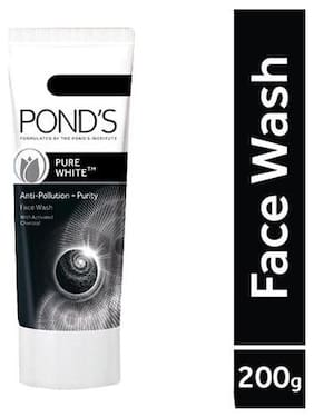 Pond's Facewash - Pure White Anti Pollution With Activated Charcoal 200 gm