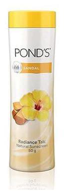 Ponds Talc Natural - Sandal Radiance 50 g