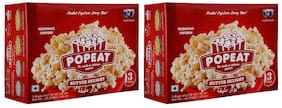 PopEat Butter Delight Microwave Popcorn (Pack of 2 X 180 Grms)
