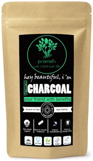 Pramsh Traders Activated Charcoal Powder 100g -For Anti Acne Blackhead Removal Instant Glow