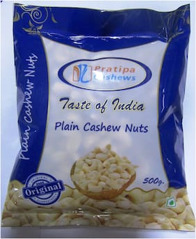 Pratipa Cashews Nut Plain 500 g (Pack of 2)