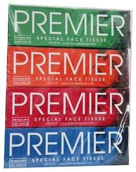 Premier Special Face Tissue 100 Pulls (Pack of 4)
