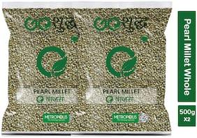 Goshudh Premium Quality Bajra Sabut Pearl Millet Whole Grain 500g (Pack Of 2)