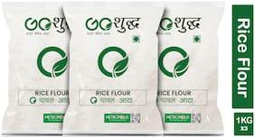 Goshudh Premium Quality Chaval Atta Rice Flour 1Kg (Pack Of 3)