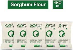 Goshudh Premium Quality Jowar Atta Sorghum Flour 1Kg (Pack Of 5)
