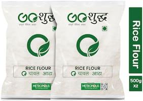 Goshudh Premium Quality Chaval Atta Rice Flour 500g (Pack Of 2)