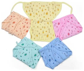 Premium quality padded Hosiery / Muslin / cotton nappies / langot /skin friendly  baby nappies  reusable nappies - Pack of 6 (3-6 month) Print & Color May Vary