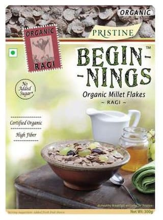 PRISTINE Beginnings - Organic Ragi Flakes 300 gm