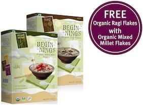 Pristine Beginnings Organic Mixed Millet - Flakes 300gm(Buy 1 Get 1 Organic Ragi Flakes) Pack of 2