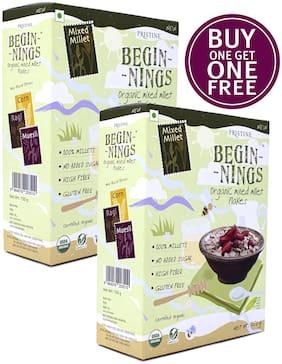 Pristine Beginnings Organic Mixed Millet - Flakes 300gm (Buy 1 Get 1 Free)