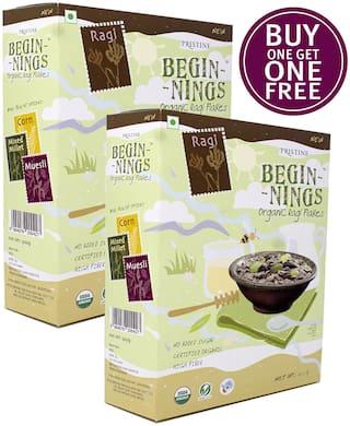 Pristine Beginnings Organic Ragi - Flakes 300gm (Buy 1 Get 1 Free)
