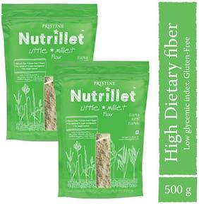PRISTINE Nutrillet Little Millet Flour 500 g (Pack of 2)