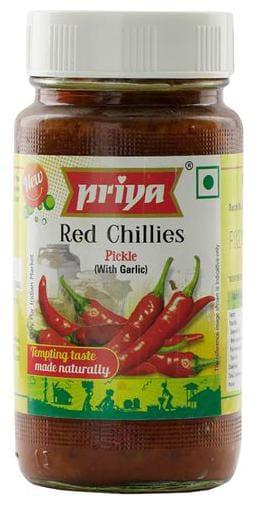 Priya Pickle - Red Chillies (With Garlic) 300 g