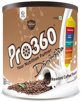 Pro360 Diabetic Nutritional Beverage Mix - Roasted Coffee Flavour 250g