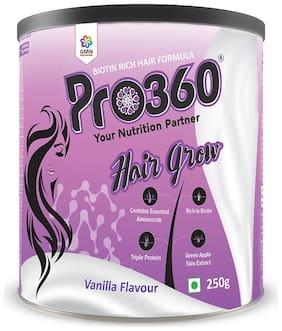 Pro360 Hair Grow Nutritional Beverage Mix - Vanilla Flavour 250g