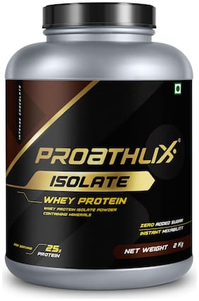 Proathlix Whey Isolate Protein Powder With Digestive Enzyme;(Intense Chocolate Flavour;4.4 lbs / 2 kg)