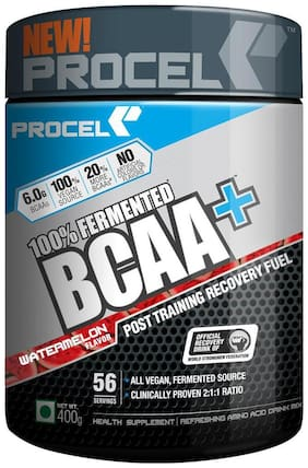 Procel 100% Fermented BCAA+ Water Melon 56 serving 400 gm