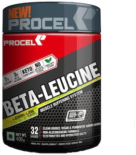 PROCEL BETA-LEUCINE Keto BCAA Powder with Leucine & Beta-alanine - 400g (Lemon-Lime)