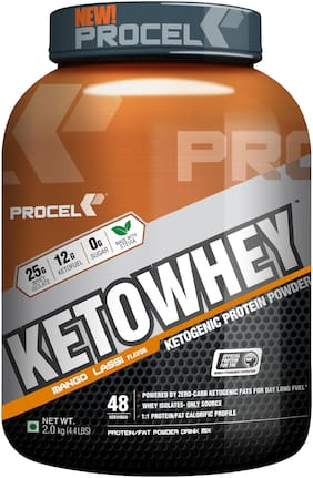 PROCEL KETOWHEY ketogenic protein powder with ketofuel- 2 kg (Mango Lassi)