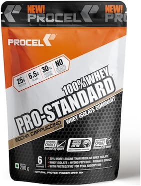 PROCEL Pro-Standard 100% Whey Isolate Protein Powder with Hydro Whey Peptides - Trial Pack 200g (Mocha Cappuccino - Coffee)