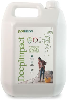 Proklean Deepimpact Probiotic Floor Cleaner and Sanitizer Non-Toxic Baby Safe & Pet Safe, Skin Friendly Anti-Virus Germ guard Bathroom Cleaner- 5L