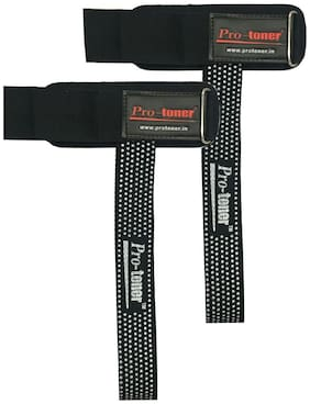 Protoner Wight Lifting straps with cushioned wrist support & velcro strap