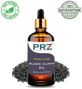 PRZ Black Cumin Seed (Kalonji Oil) Cold Pressed Carrier Oil (15 ml) - Pure Natural & Therapeutic Grade Oil For Aromatherapy Body Massage, Skin Care & Hair Care