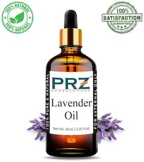 PRZ Lavender Essential Oil (30 ml) - Pure Natural & Therapeutic Grade Oil For Aromatherapy Body Massage, Skin Care & Hair Care